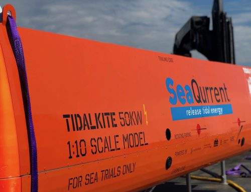 SeaQurrent successfully concluded testing a 1:10 scale model in the Dutch Waddenzee